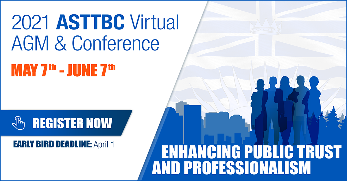 Join Us: ASTTBC 2021 Virtual AGM & Conference